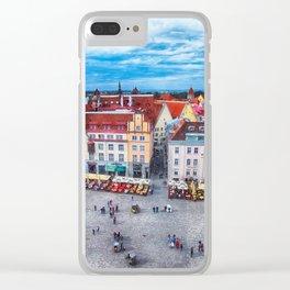 Tallinn art 10 #tallinn #city Clear iPhone Case