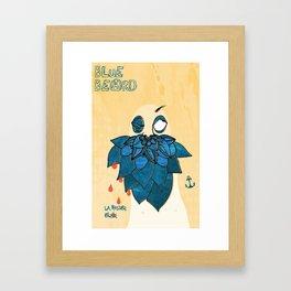 Blue Beard Framed Art Print