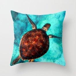 Marine sea fish animal Throw Pillow