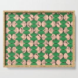 KEYAH - Green & pink Serving Tray