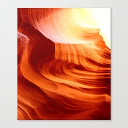 Bright Antelope Canyon Colors Canvas Print