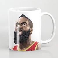nba Mugs featuring James Harden by Roland Banrevi