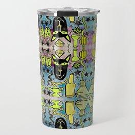Bubbling Magic Potion & Black Cat Travel Mug