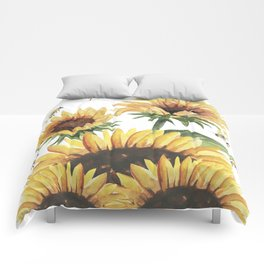 Sunflowers and Honey Bees Comforters