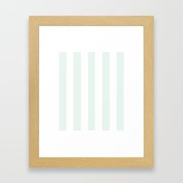 Italian ice heavenly - solid color - white vertical lines pattern Framed Art Print
