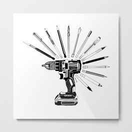 Power Tools Metal Print