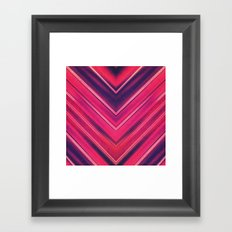 Modern Red / Black Stripe Abstract Stream Lines Texture Design (Symmetric edition) Framed Art Print