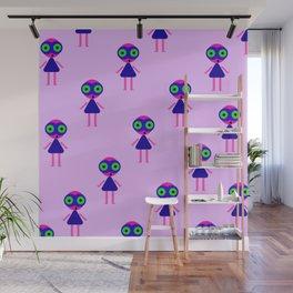 Jessie Martian (violet) Wall Mural