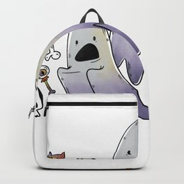 Scared Ghosts with Halloween Candy Backpack