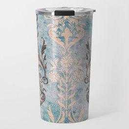 Vintage Paper Patterns: Antique Aqua Travel Mug