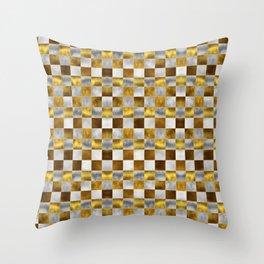Checkered Pattern IX Throw Pillow