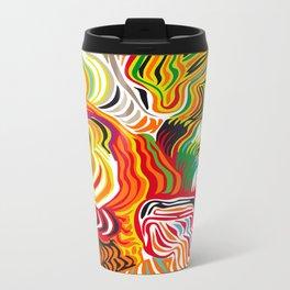 colored flow Metal Travel Mug