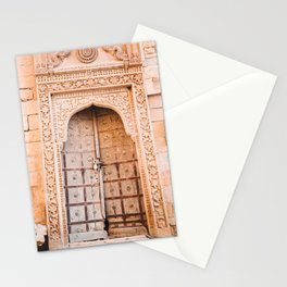 Wooden Door in the Golden City Jaisalmer in Rajasthan, India   Travel Photography   Stationery Cards