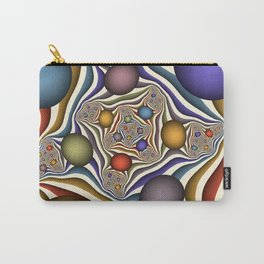Flying Up, Colorful, Modern, Abstract Fractal Art Carry-All Pouch