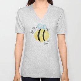 Happy Bee-Day Unisex V-Neck