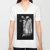 indiana jones V-neck T-shirts featuring Indiana Jones and the Temple of Doom by Meredith Mackworth-Praed