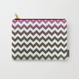 Pink Roses in Anzures 3 Chevron 1T Carry-All Pouch