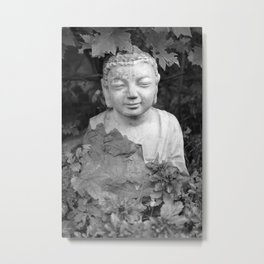 Buddha black and white photo, photographed village in Oberaudorf (Bavaria), 2013 Metal Print