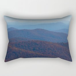 The Blue Ridge Parkway Mountains NC #2, Fine Art Landscape Photography Rectangular Pillow