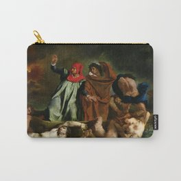"""Eugène Delacroix """"Dante and Virgil in Hell, also known as The Barque of Dante"""" Carry-All Pouch"""