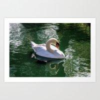 Swim and Chill Art Print