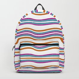 Colorful Wavy Stripes Pattern Backpack