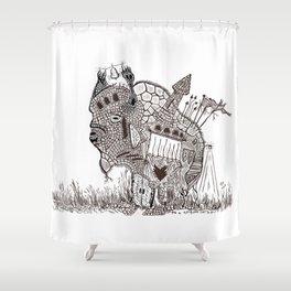 Bisontemple Shower Curtain