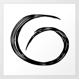 Abstract black shape.Minimalistic shape Art Print