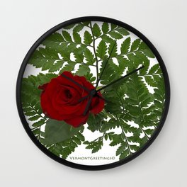 Rose in Winter Wall Clock