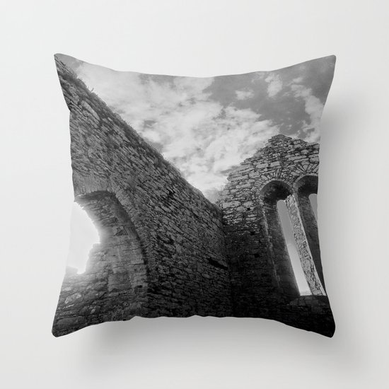Corcomeroe Abbey Arch Throw Pillow