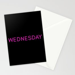 Wednesday is a nice day for pink Stationery Cards