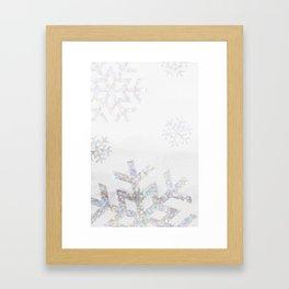 Snowflake Glitter Framed Art Print