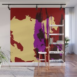 Ishiraku - Abstract Colorful Retro Tie-Dye Style Pattern Wall Mural