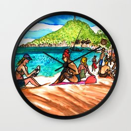 beach vibes haad rin beac thailand Wall Clock