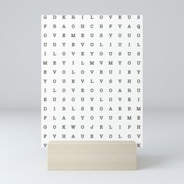 LOVE word search Mini Art Print