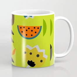 Modern decor with fruits and flowers Coffee Mug