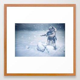 Snow soldier Framed Art Print