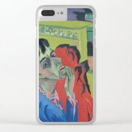 Ernst Ludwig Kirchner Self Portrait Unwell 1918 Clear iPhone Case