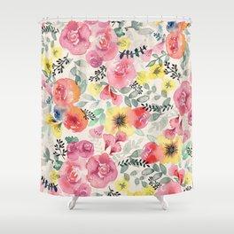 Success Magnet Floral Shower Curtain