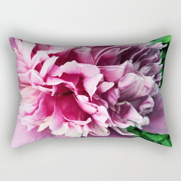 Big pink peony Rectangular Pillow