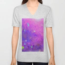 Colorful modern abstract in violet Unisex V-Neck