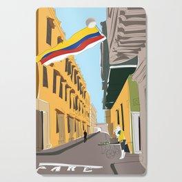 Cartagena de Indias, Colombia Travel Poster Cutting Board