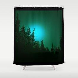 Peeping Luna Shower Curtain