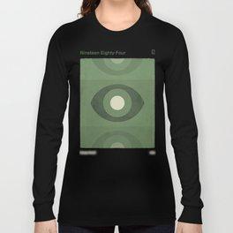 George Orwell Nineteen Eighty-Four - Minimalist literary design, bookish gift Long Sleeve T-shirt