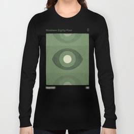 George Orwell Nineteen Eighty-Four - Minimalist literary design, bookish gift Long Sleeve T-shirt