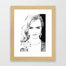 """Cara"" Framed Art Print"