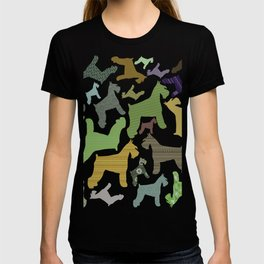 schnauzer pattern *black* T-shirt