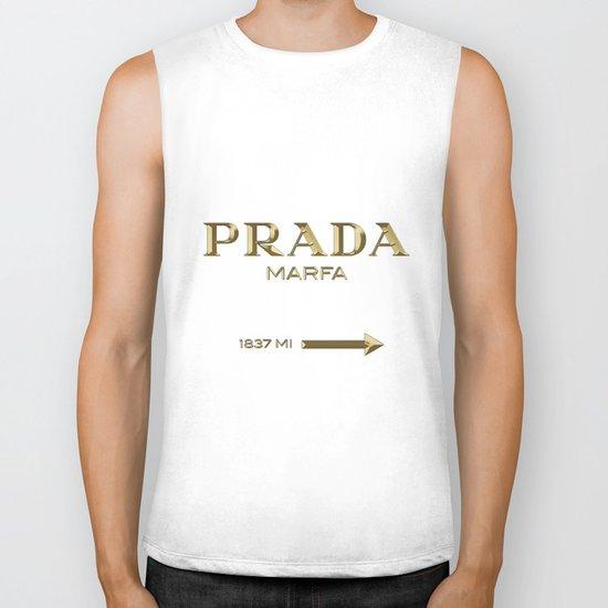 Golden PradaMarfa sign Biker Tank