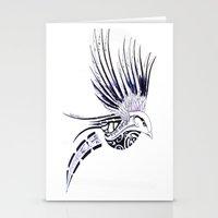 maori Stationery Cards featuring Colibri Maori by Aurélie B