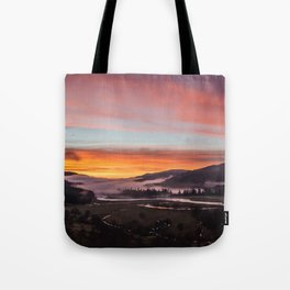 Smokey Dusk Valley Tote Bag